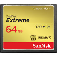 SanDisk 64GB Extreme Pro CompactFlash Memory Card 120